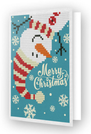 Diamond Dotz Wenskaart 'Merry Christmas Snowman'
