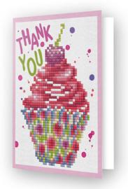 'Thank You Cupcake' Diamond Dotz Wenskaart