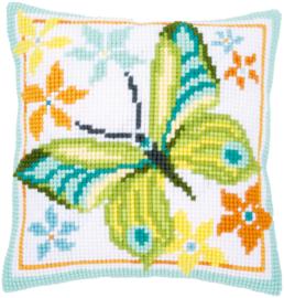 'Groene vlinder' Vervaco Kussen