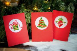 Wenskaart 'Kerst' set van 3