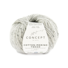 Cotton-Merino Tweed Grijs