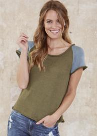Dames T-Shirt Soft Linen Mix