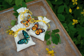 'Vlinders' Vervaco Kruidenzakje set van 3