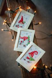 'Kerstkabouters' Vervaco Wenskaart set van 3