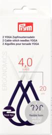 Kabelnaalden Yoga antislip 4,00mm 2 stuks