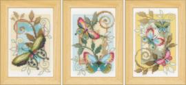 Vervaco Set van 3 'Decoratieve vlinders'