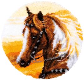 'Western paard' Vervaco Knooptapijt