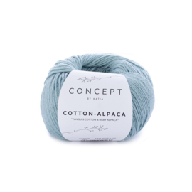 Cotton-Alpaca Waterblauw