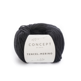 Tencel-Merino Zwart