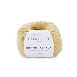 Cotton-Alpaca Okergeel