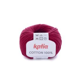Cotton 100% Wijnrood