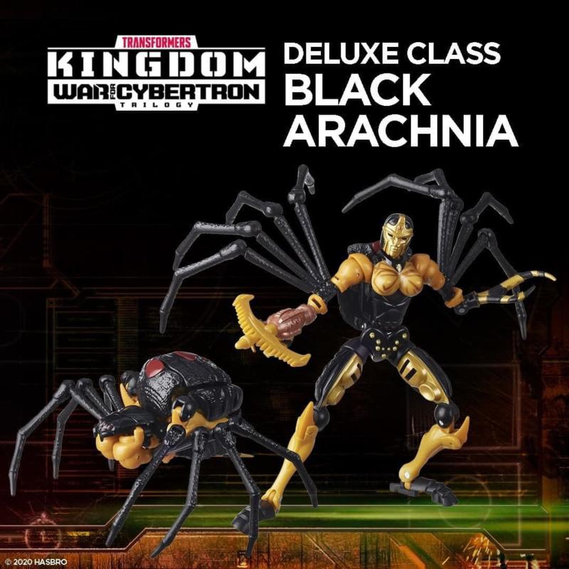 F0670 Kingdom Deluxe Black Arachnia [case of 8 pcs]