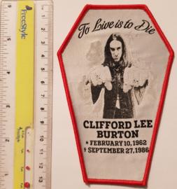 Cliff Burton - Coffin - Red