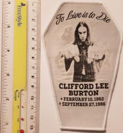 Cliff Burton - Coffin - White