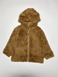 Vest teddy met capuchon