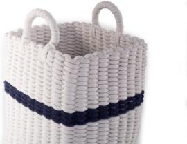 Mand Childhome gevlochten wit/marineblauw