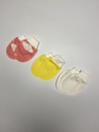 Anti-krabwantjes yellow/pink/white