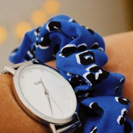 Scrunchie blue panter