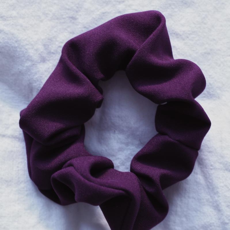 Scrunchie deep purple