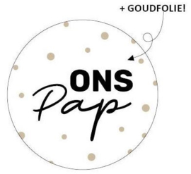 "Sticker ""Ons Pap"""
