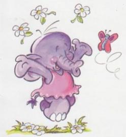 Wenskaart olifantje