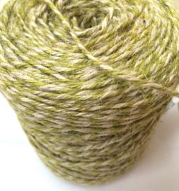 Koord twisted flaxcord groen/naturel