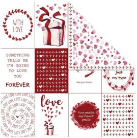Dubbelzijdig designpapier rood