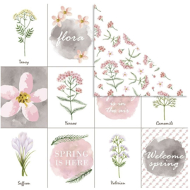 Dubbelzijdig designpapier flower