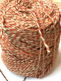 Koord twisted flaxcord oranje/naturel
