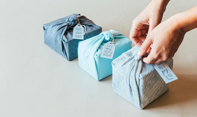 inpakken met stof furoshiki