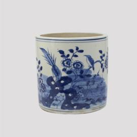 Chinese blauwe pot flower