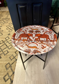 Tabletray round red elephant