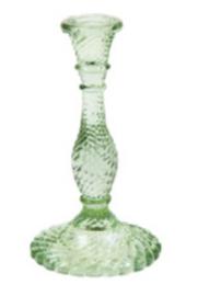 kandelaar groen glas