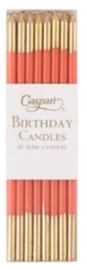 16 birthday candles orange