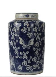 Chinese blauwe pot butterfly