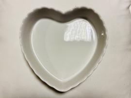 Ovenschaal hart white