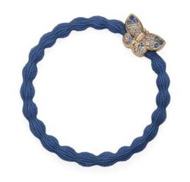 armband/haarelastiekje vlinder