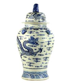 Chinese blauwe pot groot