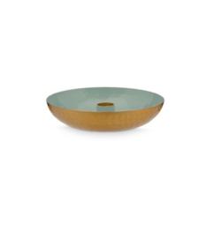 candleholder round blue