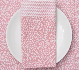 Servet van stof pink