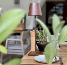 Oplaadbare lamp brons