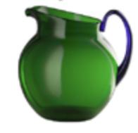 Acrylic tumbler green/blue medium