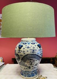Blauw Chinese lamp