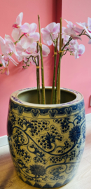 chinese blauwe pot rond grande