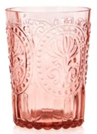 Fleur de lys glas roze small