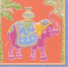 Servet orange elephant