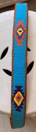 Unisex riem turquoise 90cm