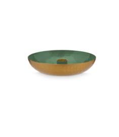 candleholder round green