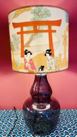 Grijs/blauwe lamp japan