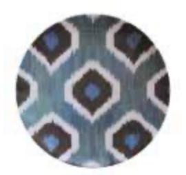 Bowl ikat blauw